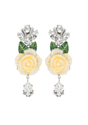 Crystal and resin floral earrings