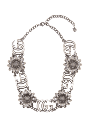 Exclusive to mytheresa.com – Double G silver necklace