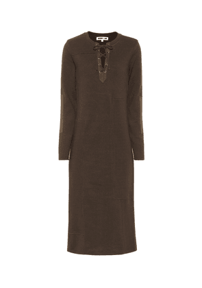 Long-sleeved cotton dress