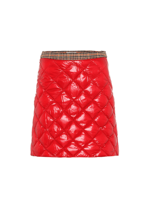 Quilted down miniskirt