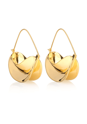 Paniers Dorés 18kt gold-plated earrings