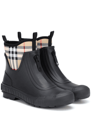 Vintage Check rubber boots