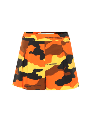 Camouflage cotton shorts