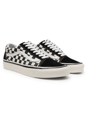 6a35ffeeeb4d Vans - Anaheim Factory Old Skool 36 Dx Leather-trimmed Checkerboard Canvas  And Suede Sneakers