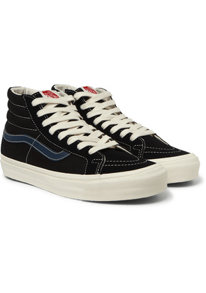 ad9fba134e43 Vans - Og Sk8-hi Lx Leather-trimmed Canvas And Suede High-top
