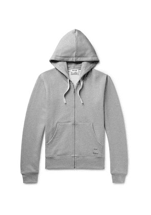 Acne Studios - Frake Slim-fit Mélange Loopback Cotton-jersey Zip-up Hoodie - Gray