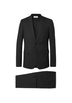 Saint Laurent - Black Slim-fit Virgin Wool-gabardine Suit - Black