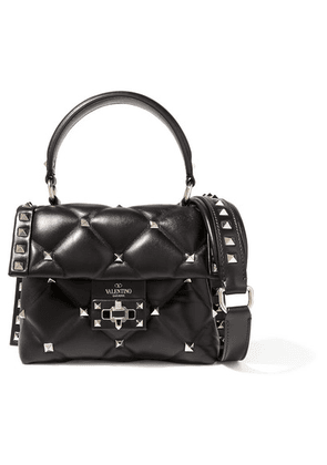 Valentino - Valentino Garavani Candystud Mini Quilted Leather Shoulder Bag - Black