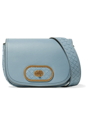 fdfe358324 Bottega Veneta - Luna Small Intrecciato Leather Shoulder Bag - Light blue
