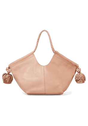 Ulla Johnson - Lali Mini Pompom-embellished Leather Tote - Blush