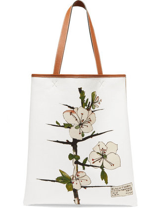Loewe - Printed Canvas And Leather Tote - Tan