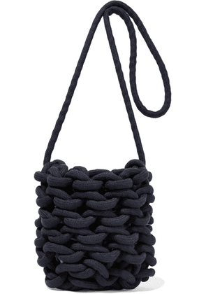 Alienina - Woven Cotton Shoulder Bag - Navy