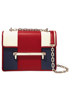 Valentino - Valentino Garavani Uptown Medium Color-block Leather Shoulder Bag - Red