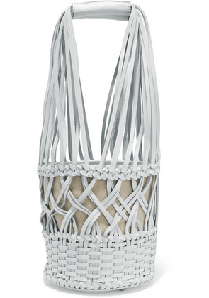 HEREU - Anna Woven Leather Bucket Bag - White