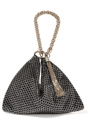Jimmy Choo - Callie Crystal-embellished Suede Shoulder Bag - Black