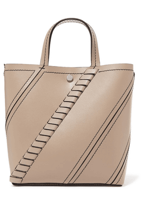 Proenza Schouler - Hex Small Paneled Textured-leather Tote - Beige