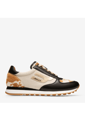 Bally Galaxy Neutral, Women's cotton canvas trainer in natural