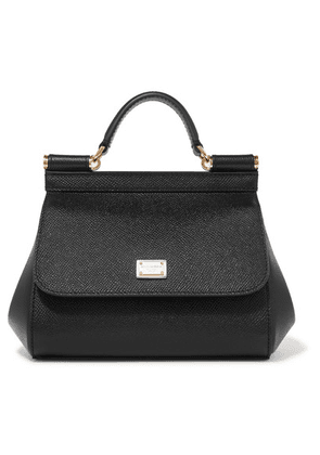 Dolce & Gabbana - Sicily Micro Textured-leather Tote - Black