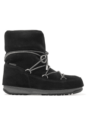 Moon Boot - Suede Snow Boots - Black