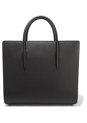 Christian Louboutin - Paloma Large Textured And Patent-leather Tote - Black