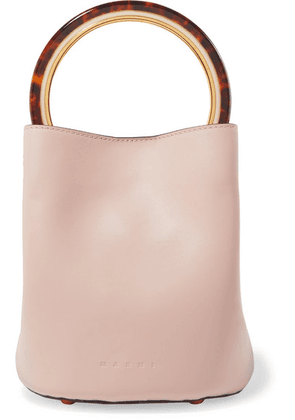 Marni - Pannier Small Leather Bucket Bag - Pastel pink