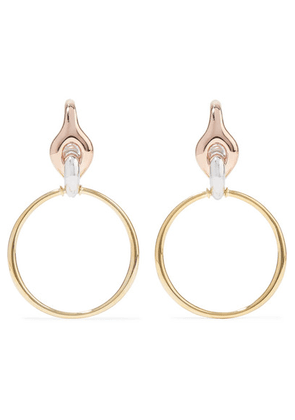 Charlotte Chesnais - Halo Silver, Gold And Rose Gold Vermeil Earrings - one size