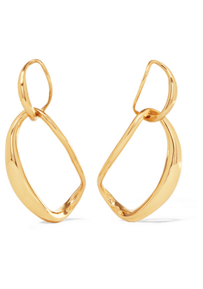Dinosaur Designs - Louise Olsen Large Liquid Chain Gold-plated Earrings - one size