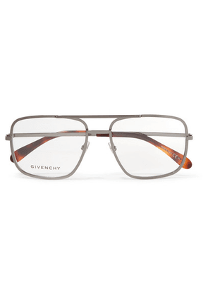 Givenchy - Aviator-style Stainless Steel Optical Glasses - Gray