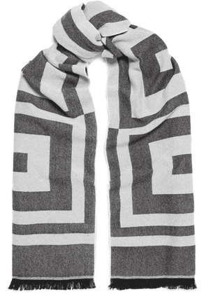 Givenchy - Wool And Cashmere-blend Jacquard Scarf - Gray