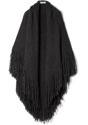 Gabriela Hearst - Lauren Fringed Cashmere Wrap - Charcoal