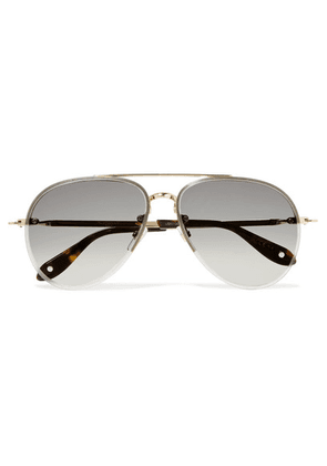 Givenchy - Aviator-style Gold-tone Sunglasses - one size