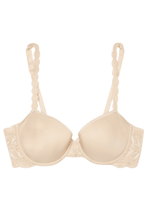 Cosabella - Never Say Never Comfie Stretch-jersey And Lace T-shirt Bra - Neutral