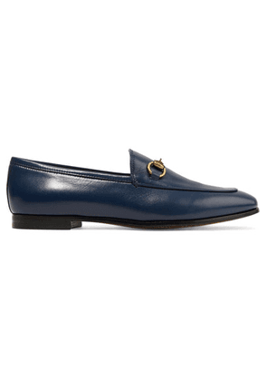 Gucci - Jordaan Horsebit-detailed Leather Loafers - Navy