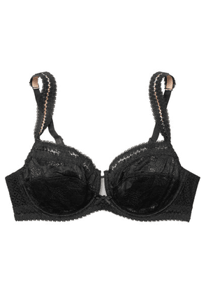 Chantelle - Montsouris Stretch-lace And Mesh Underwired Bra - Black