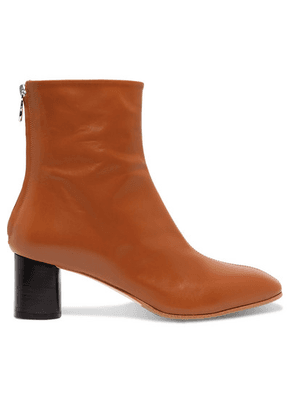 aeyde - Florence Leather Ankle Boots - Tan
