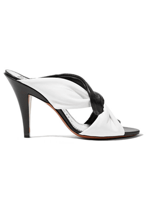 Givenchy - Knotted Two-tone Leather Mules - Black