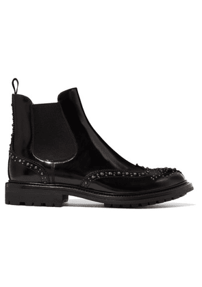Church's - Aura Met Studded Glossed-leather Chelsea Boots - Black