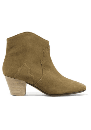Isabel Marant - Dicker Suede Ankle Boots - Brown