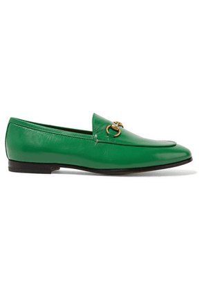 Gucci - Jordaan Horsebit-detailed Leather Loafers - Green
