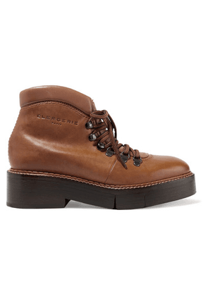 Clergerie - Celina Leather Ankle Boots - Tan