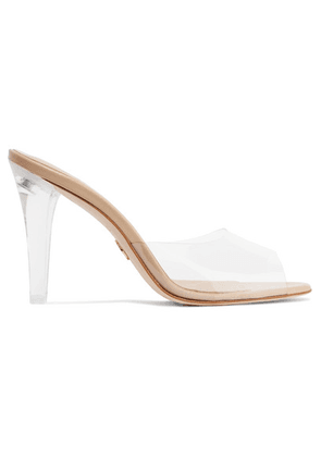 Brother Vellies - Pvc, Acetate And Leather Mules - Clear