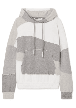 McQ Alexander McQueen - Terry-panelled Cotton-jersey Hoodie - White