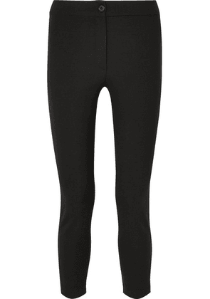 Ann Demeulemeester - Cropped Stretch-wool Slim-leg Pants - Black