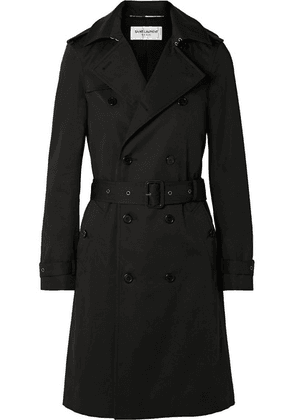 SAINT LAURENT - Woven Trench Coat - Black
