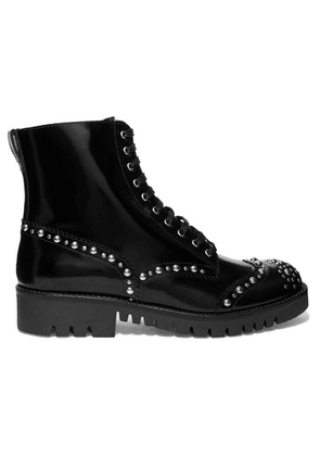 McQ Alexander McQueen - Bess Studded Leather Ankle Boots - Black