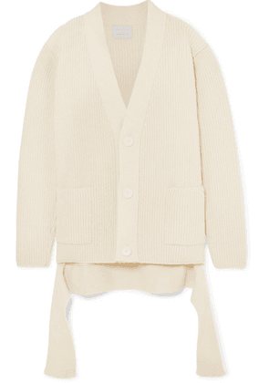 Borgo De Nor - + Edamame London Ribbed Wool Cardigan - Cream