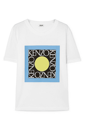 KENZO - Printed Cotton-jersey T-shirt - White
