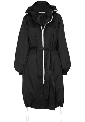 Givenchy - Hooded Printed Shell Coat - Black