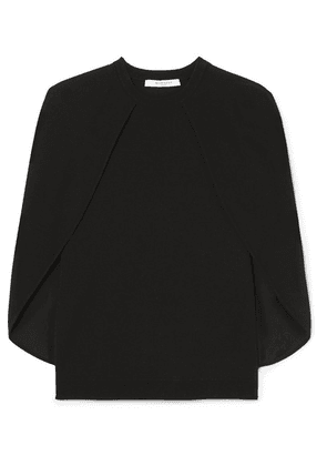 Givenchy - Cape-effect Stretch-knit Top - Black