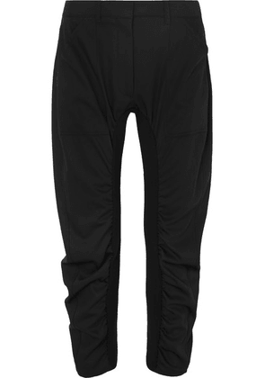 Stella McCartney - Tina Ruched Wool-twill And Cotton-blend Pants - Black